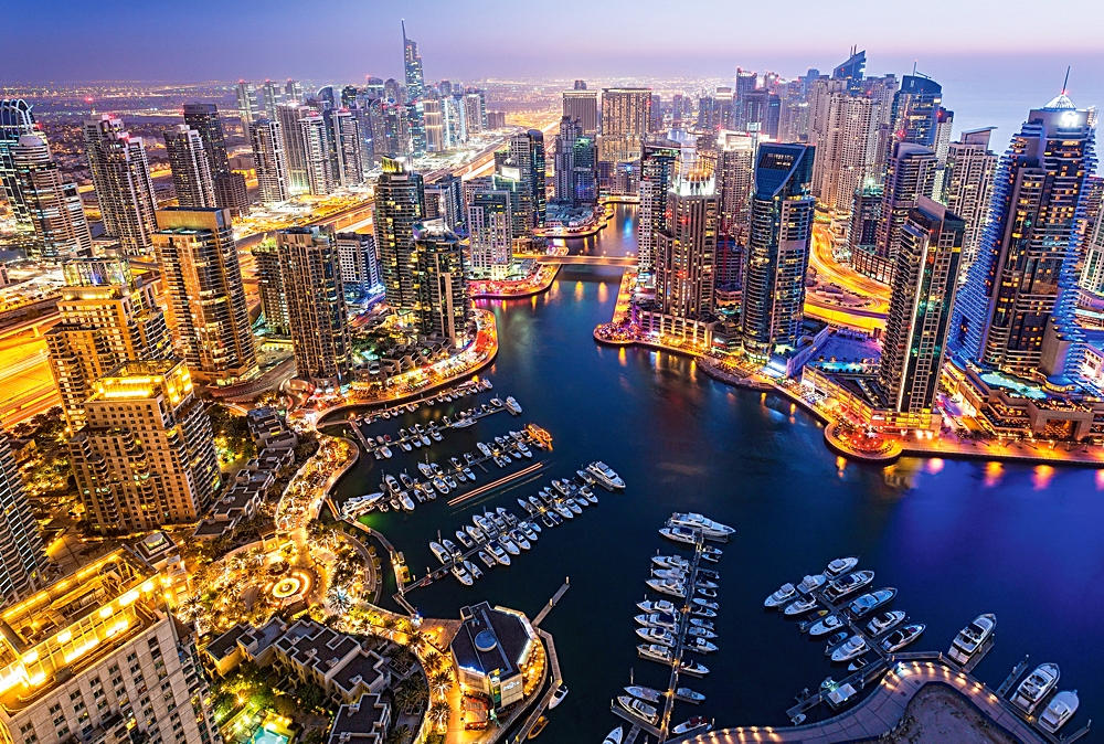Puzzle Castorland Dubai de Noche de 1000 Piezas