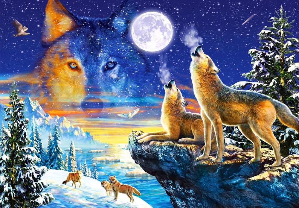 Puzzle Castorland El Clamor de los Lobos de 1000 Piezas