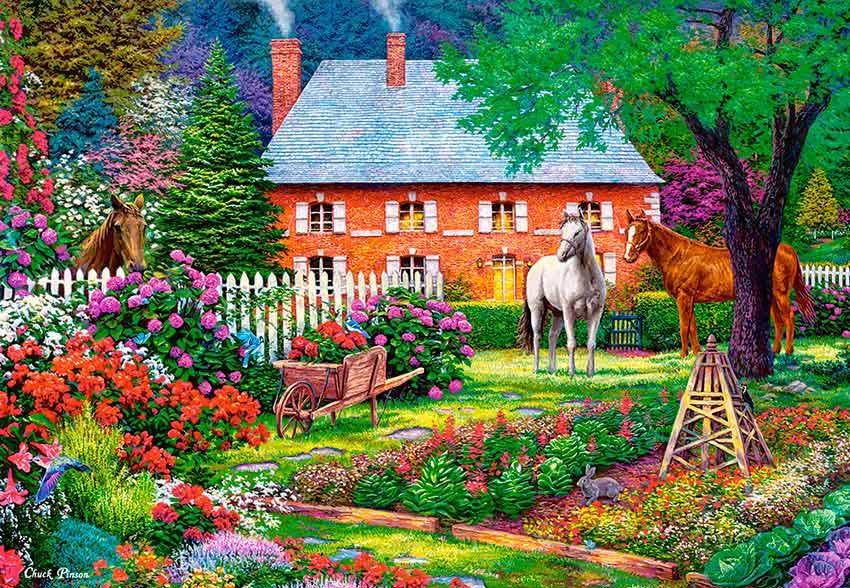 Puzzle Castorland El Dulce Jardín 1500 Piezas