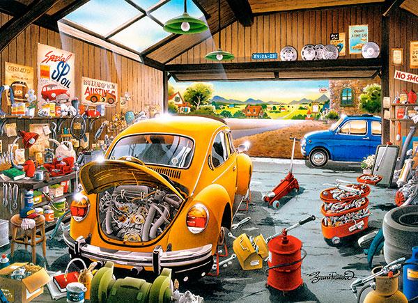 Puzzle Castorland El Garaje de Sam de 300 Piezas