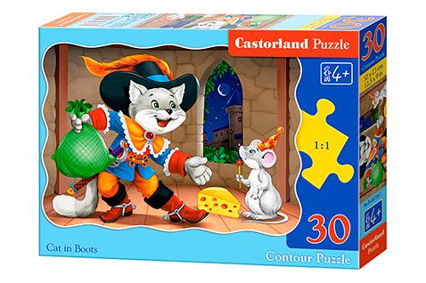 Puzzle Castorland El Gato con Botas de 30 Piezas
