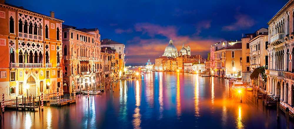 Puzzle Castorland El Gran Canal de Noche, Venecia de 600 Piezas