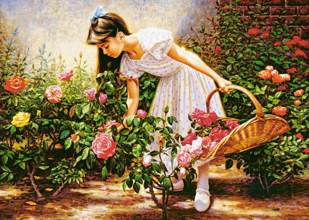 Puzzle Castorland El Jardín de Rosas de 1000 Piezas