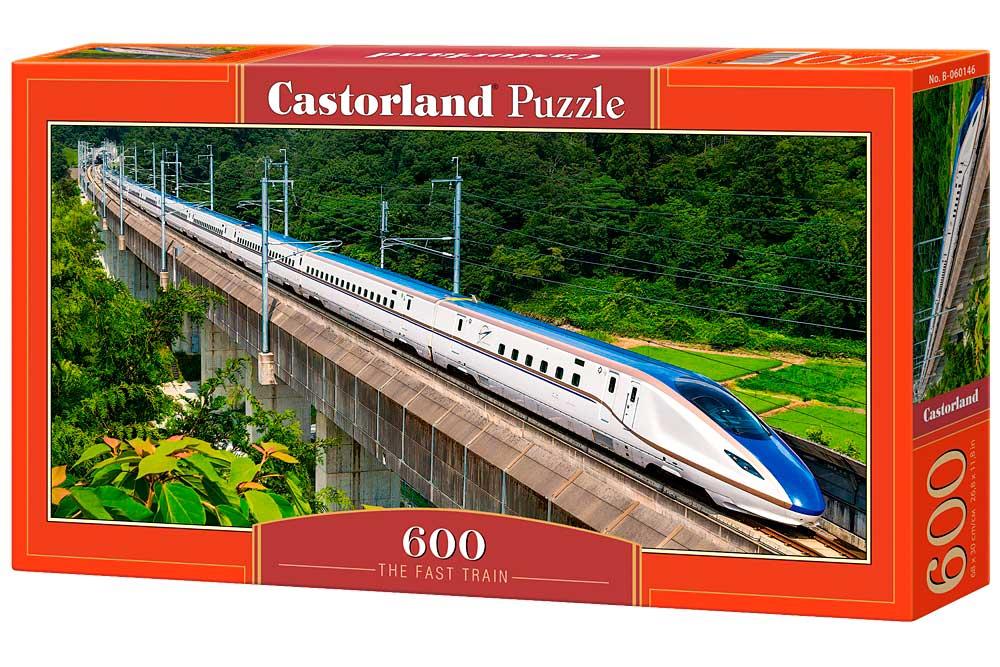 Puzzle Castorland El Tren Rápido de 600 Piezas