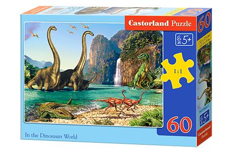 Puzzle Castorland En El Mundo de los Dinosaurios de 60 Piezas