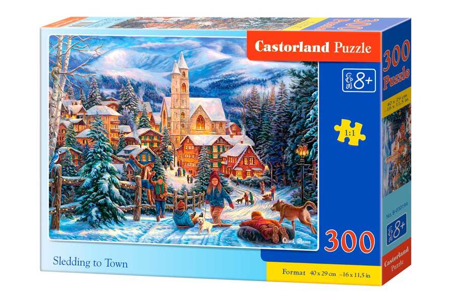 Puzzle Castorland En Trineo a la Ciudad de 300 Piezas