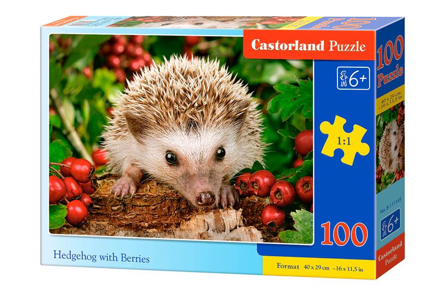Puzzle Castorland Erizo con Bayas de 100 Piezas