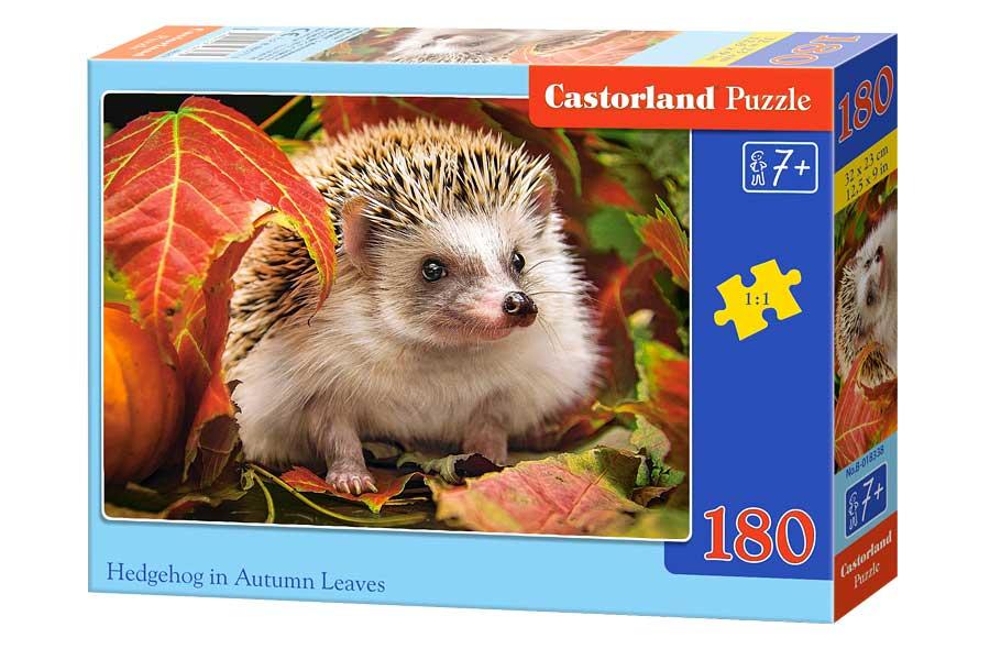 Puzzle Castorland Erizo Sobre Hojas de Otoño, 180 Piezas
