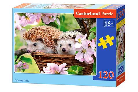 Puzzle Castorland Erizos en Primavera de 120 Piezas