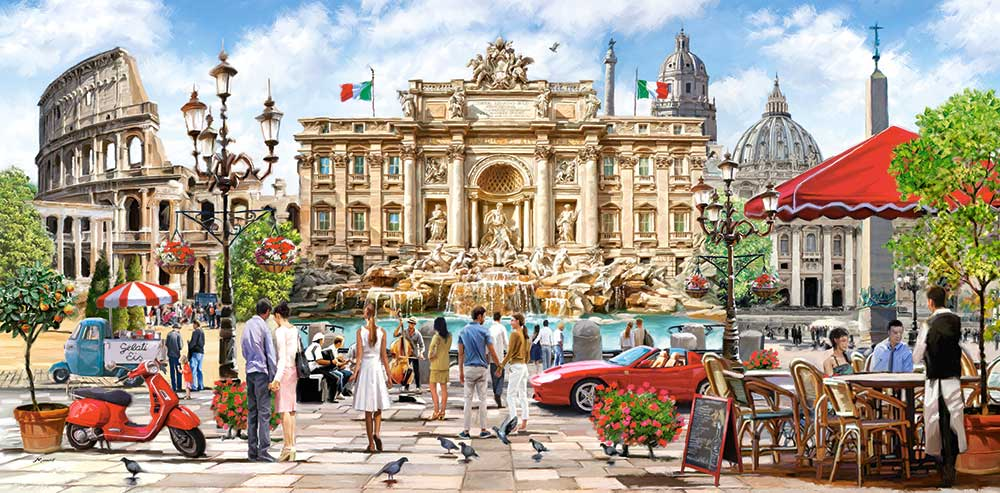 Puzzle Castorland Esplendor de Roma de 4000 Piezas