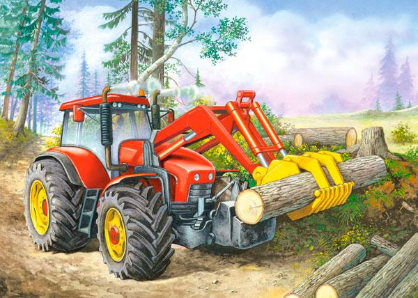 Puzzle Castorland Excavadora en Bosque de 60 Piezas