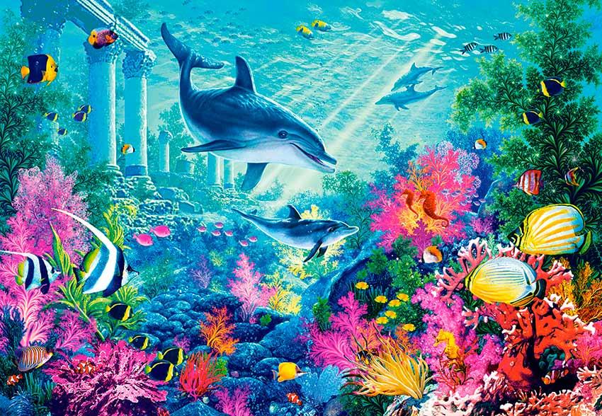 Puzzle Castorland Exploración Bajo el Mar de 1000 Piezas