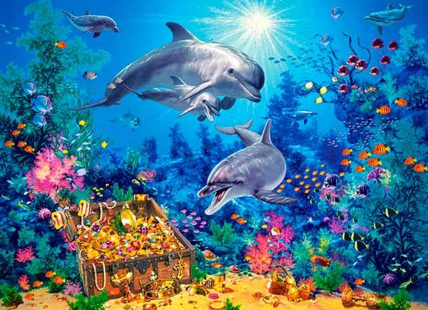 Puzzle Castorland Familia de Delfines de 300 Piezas