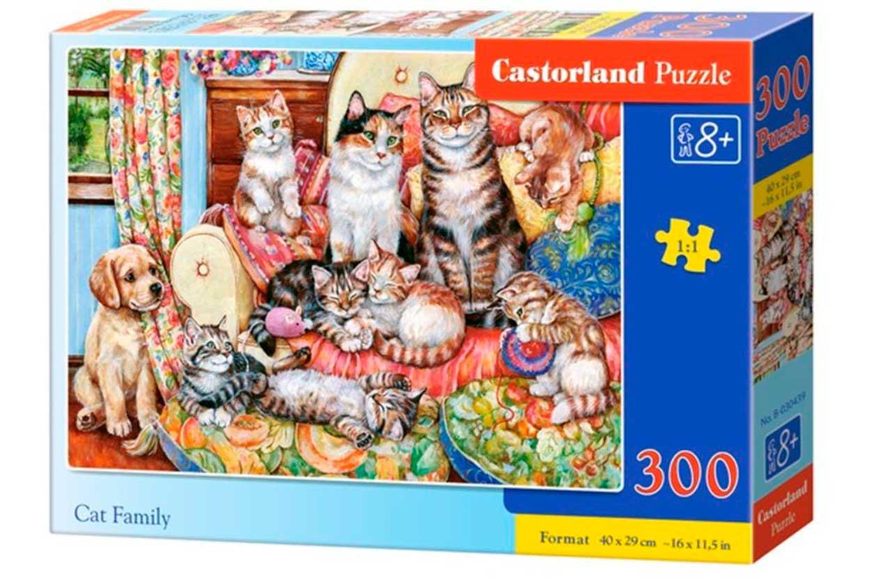 Puzzle Castorland Familia de Gatos de 300 Piezas