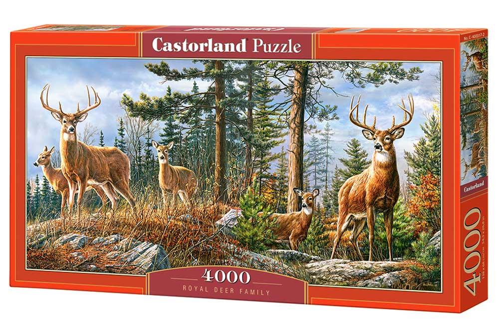 Puzzle Castorland Familia Real de Ciervos de 4000 Piezas