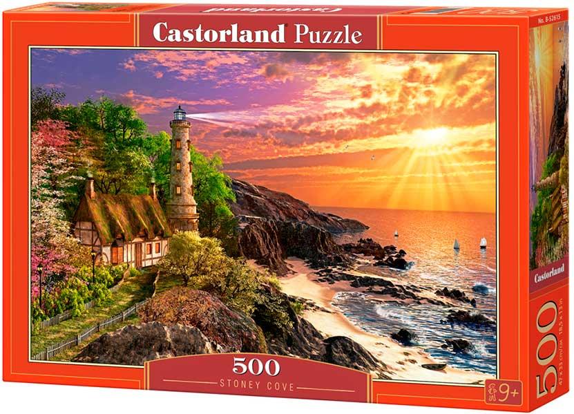 Puzzle Castorland Faro en el Acantilado de 500 Piezas