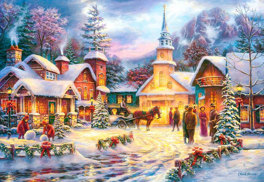 Puzzle Castorland Fe Profunda en Navidad de 1500 Piezas