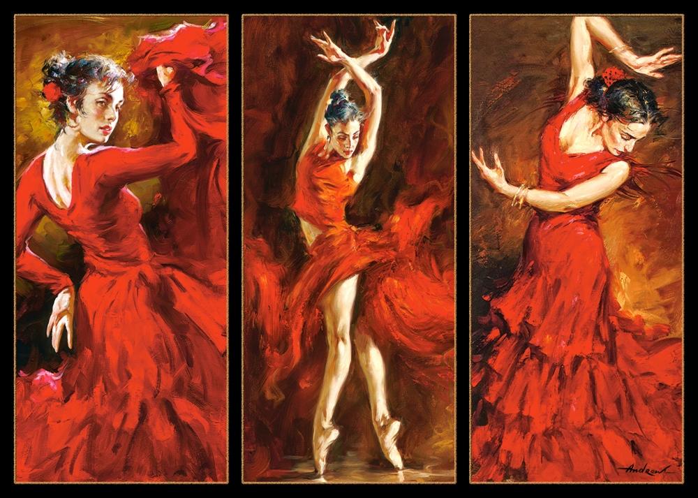 Puzzle Castorland Flamenco y Danza de 1000 Piezas