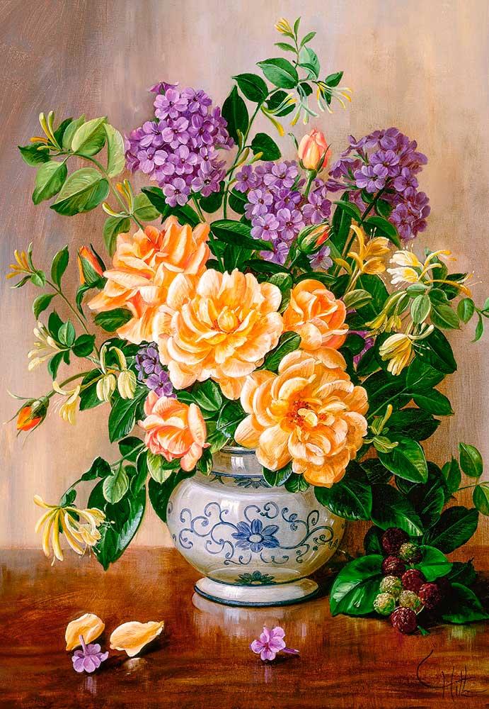 Puzzle Castorland Floral de 1000 Piezas
