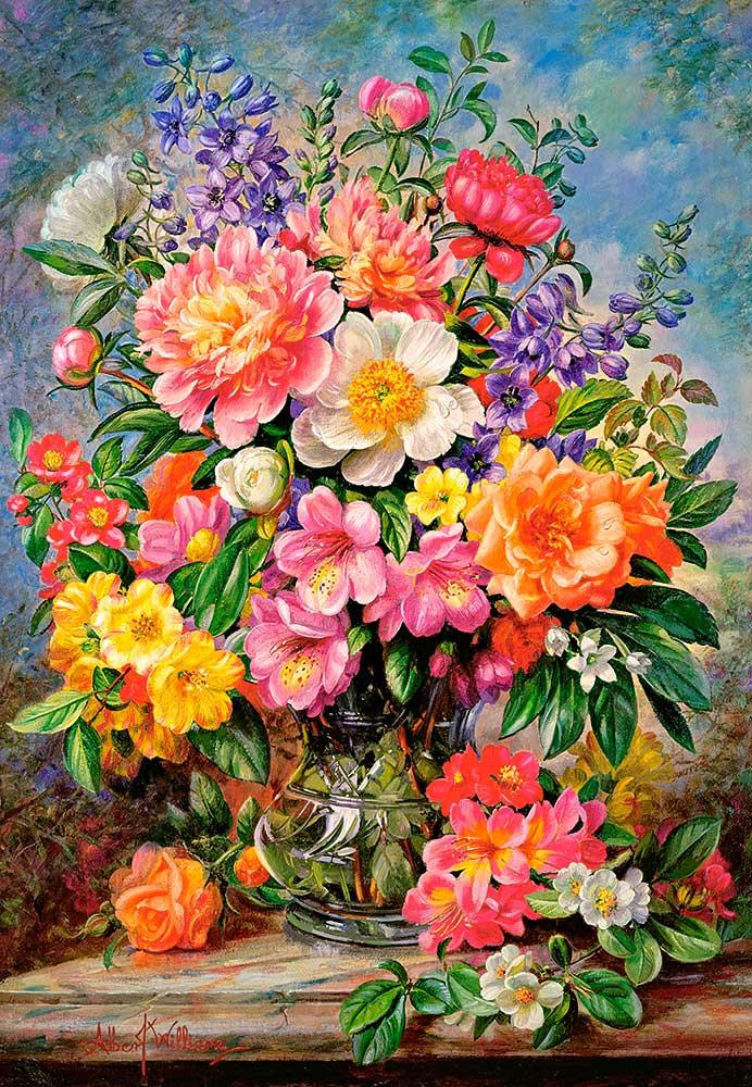 Puzzle Castorland Flores de Junio Radiantes de 1000 Piezas