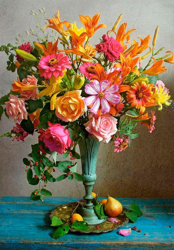 Puzzle Castorland Flores de Otoño de 500 Piezas