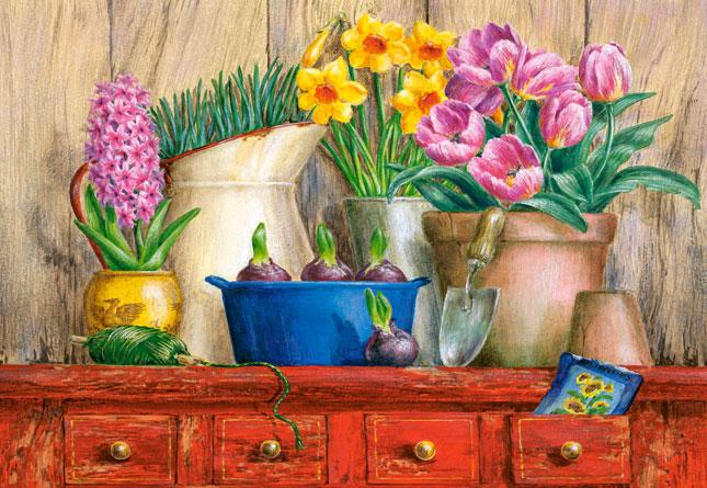 Puzzle Castorland Flores de Primavera de 500 Piezas