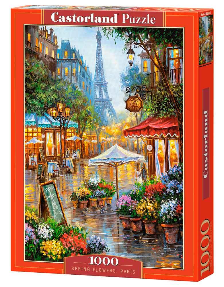 Puzzle Castorland Flores de Primavera, París de 1000 Piezas