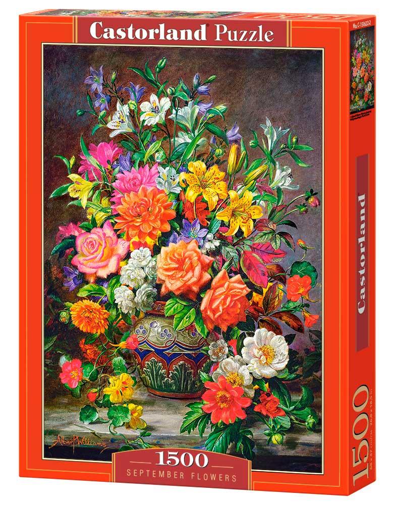 Puzzle Castorland Flores de Septiembre de 1500 Piezas