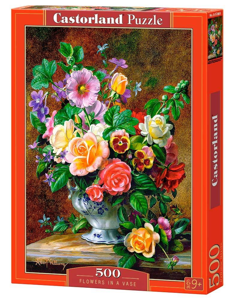 Puzzle Castorland Flores en un Florero 500 Piezas