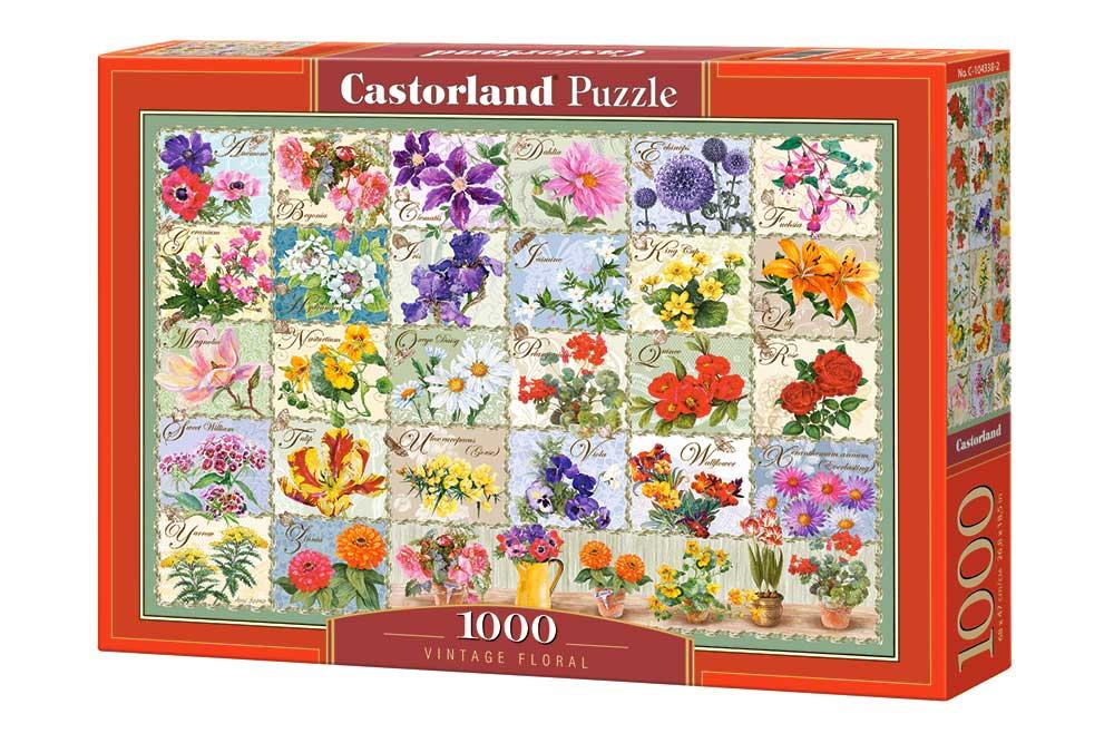 Puzzle Castorland Flores Vintage de 1000 Piezas