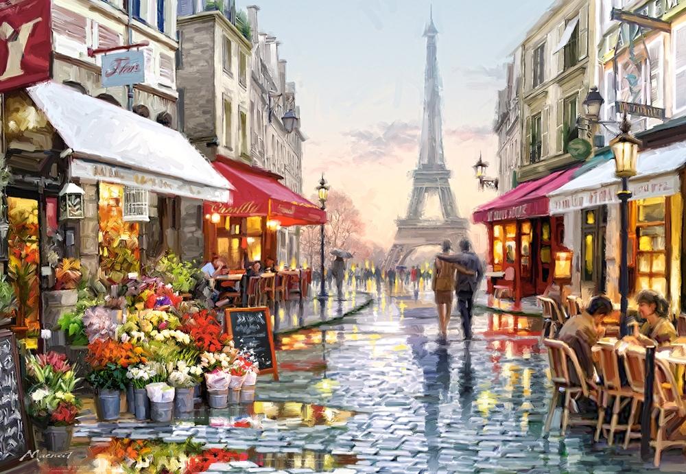 Puzzle Castorland Floristería en París de 1500 Piezas