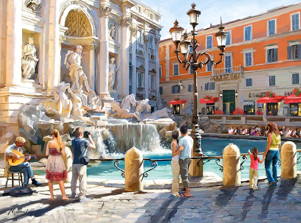 Puzzle Castorland Fontana de Trevi de 3000 Piezas