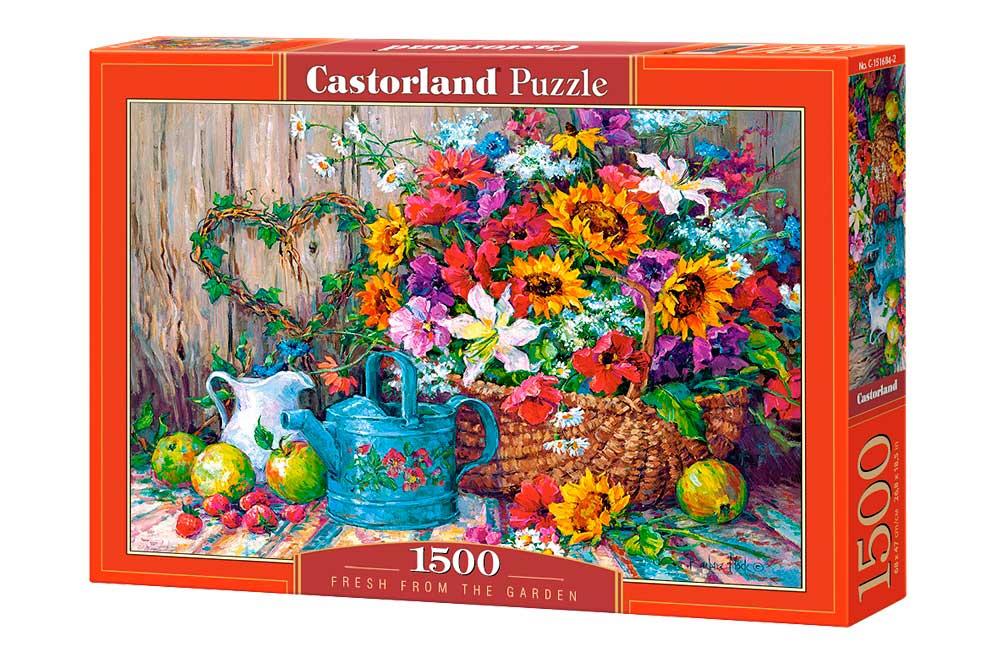Puzzle Castorland Frescos del Jardín de 1500 Piezas