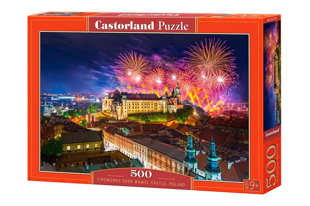 Puzzle Castorland Fuegos Artificiales, Castillo Wawel 500 Piezas