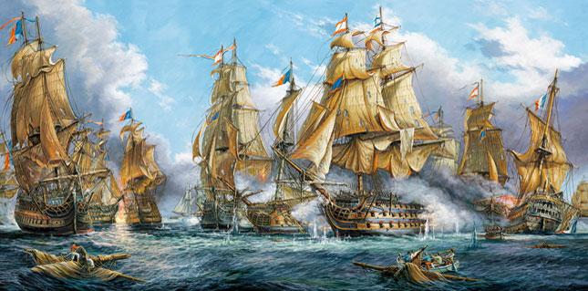 Puzzle Castorland Galeones en la Batalla de 4000 Piezas