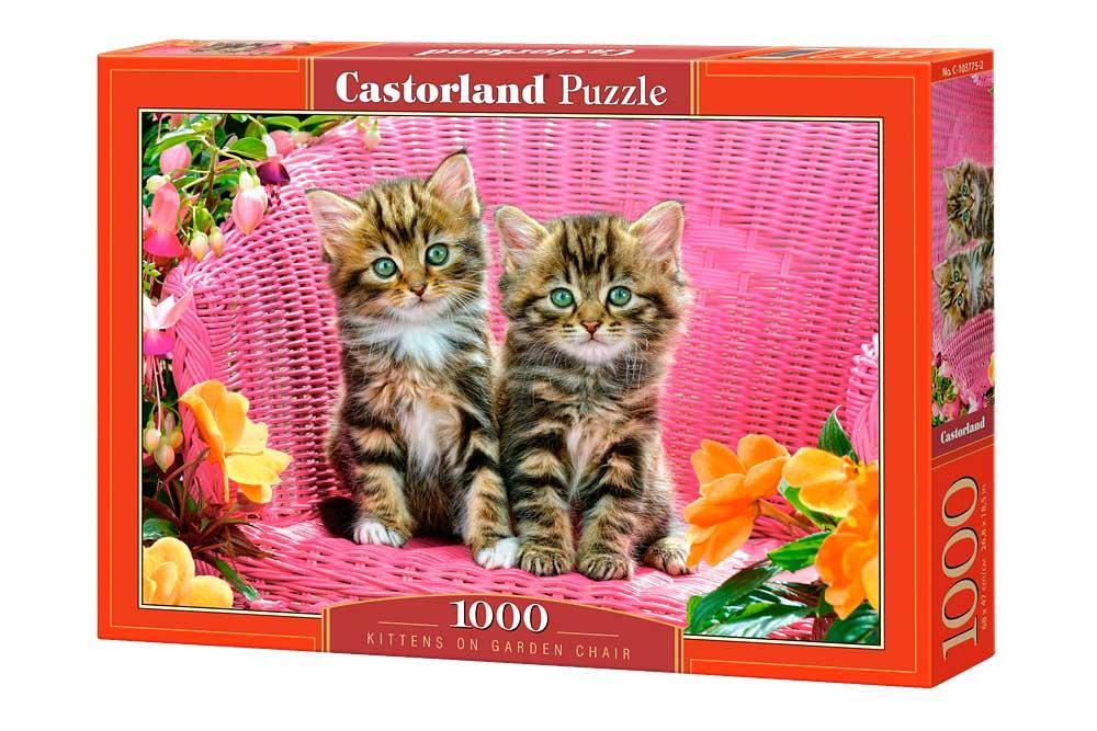 Puzzle Castorland Gatitos en Silla de Jardín de 1000 Piezas