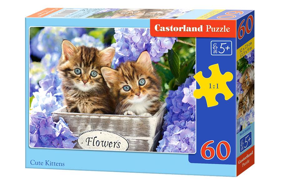 Puzzle Castorland Gatitos Preciosos de 60 Piezas