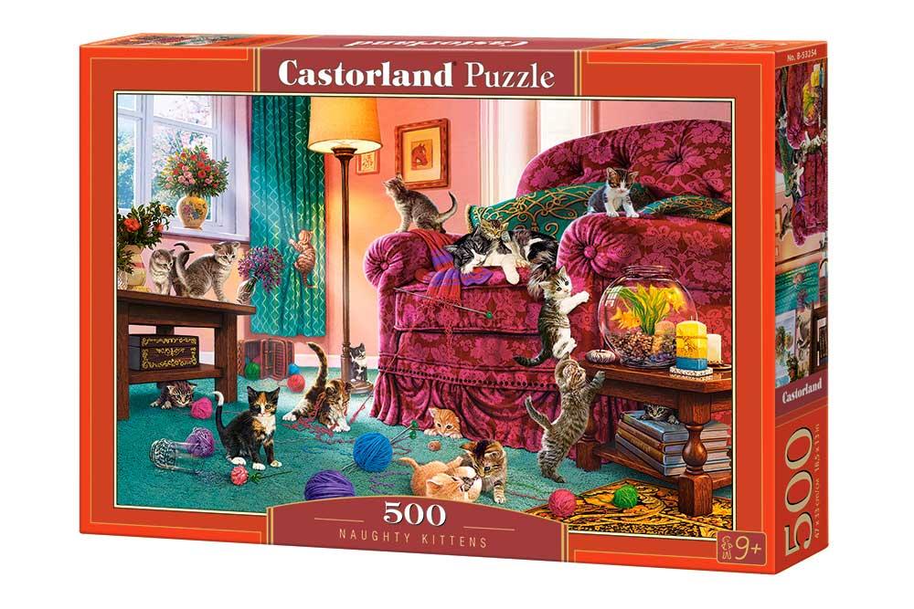 Puzzle Castorland Gatitos Traviesos de 500 Piezas