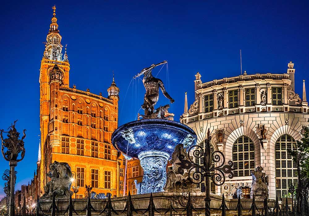 Puzzle Castorland Gdansk, Fuente de Neptuno de 500 Piezas