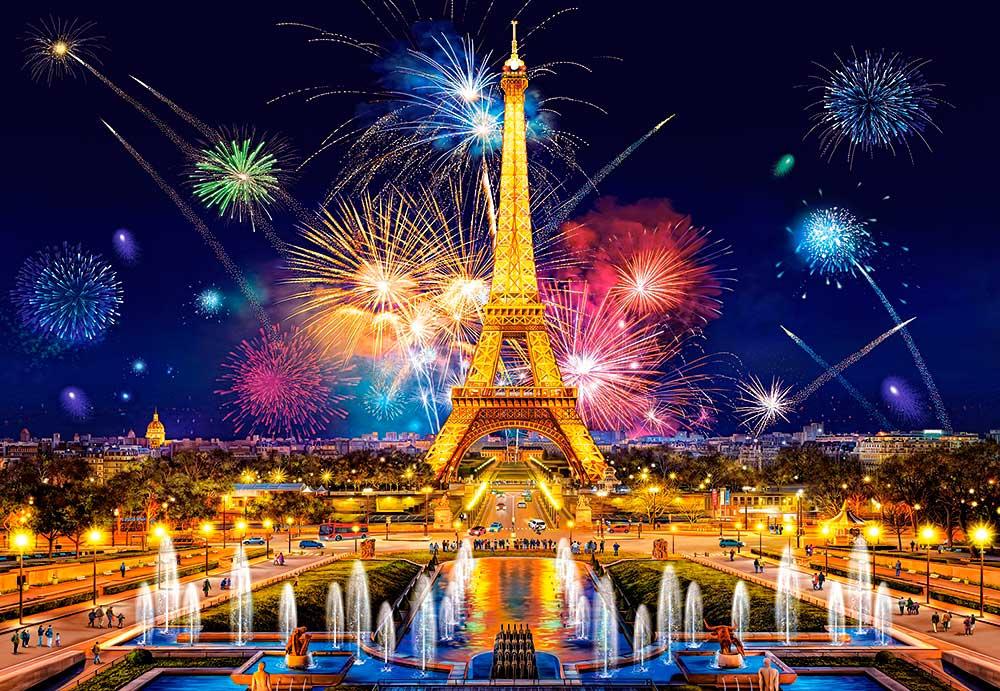 Puzzle Castorland Glamour de la Noche, París de 1000 Piezas