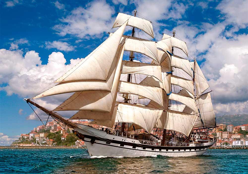 Puzzle Castorland Gran Barco Dejando el Puerto 500 Piezas