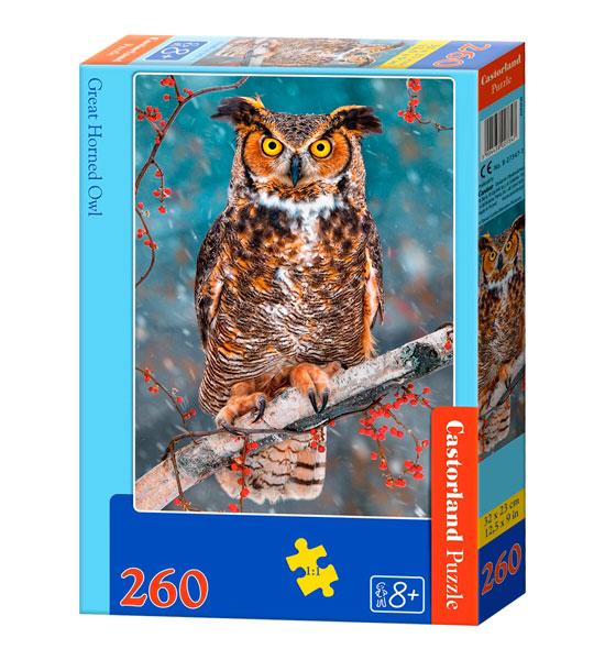 Puzzle Castorland Gran Buho Cornado 260 Piezas