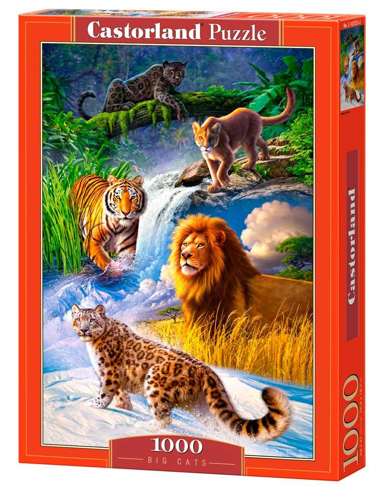 Puzzle Castorland Grandes Felinos de 1000 Piezas