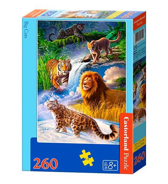 Puzzle Castorland Grandes Felinos de 260 Piezas