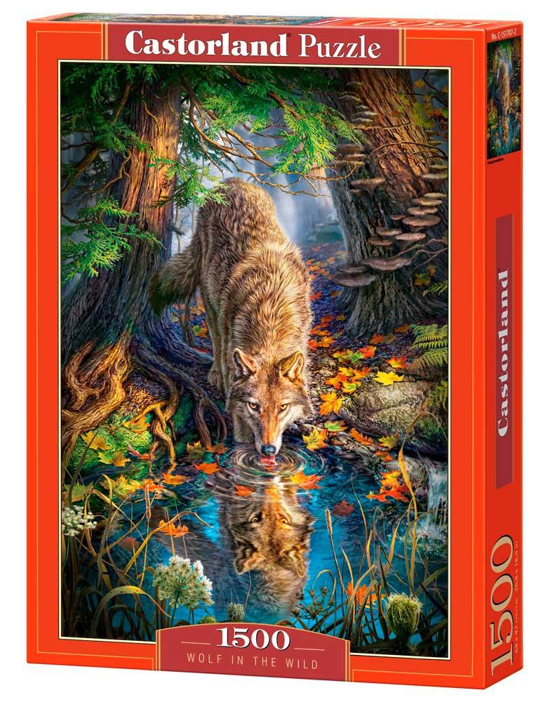 Puzzle Castorland Lobo en la Naturaleza de 1500 Piezas