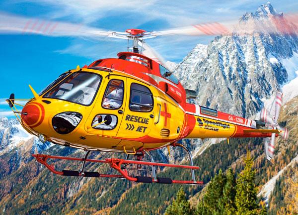 Puzzle Castorland Helicoptero de Rescate de Tigre 260 Piezas