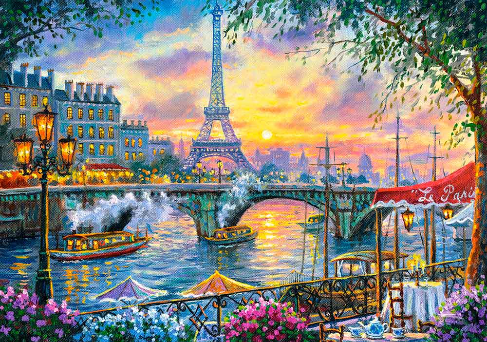 Puzzle Castorland Hora del Té en París de 500 Piezas