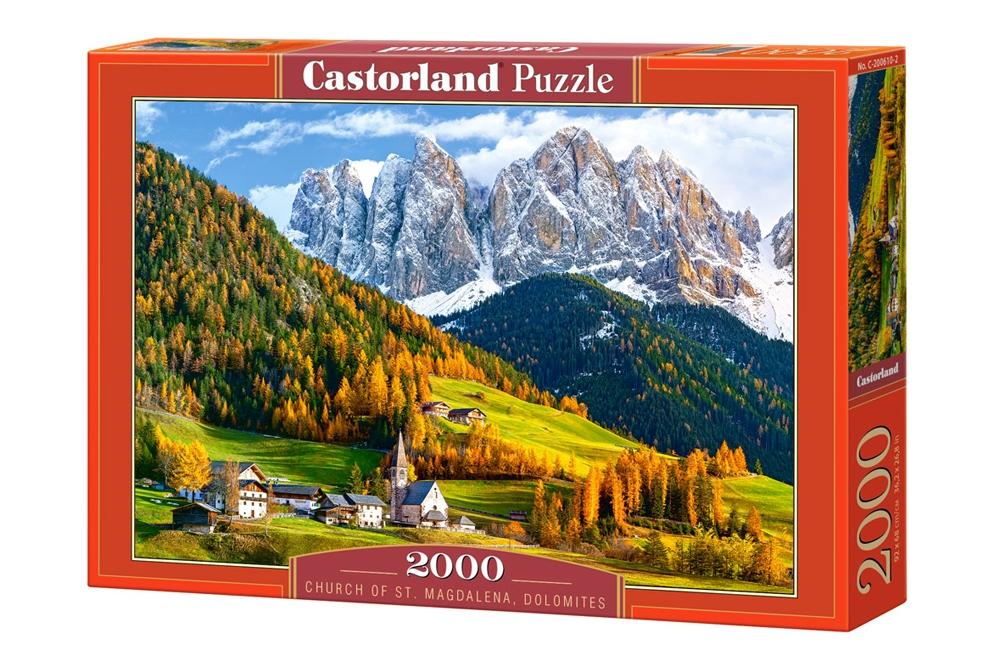 Puzzle Castorland Iglesia de St. Magdalena, Dolomitas de 2000 Pi