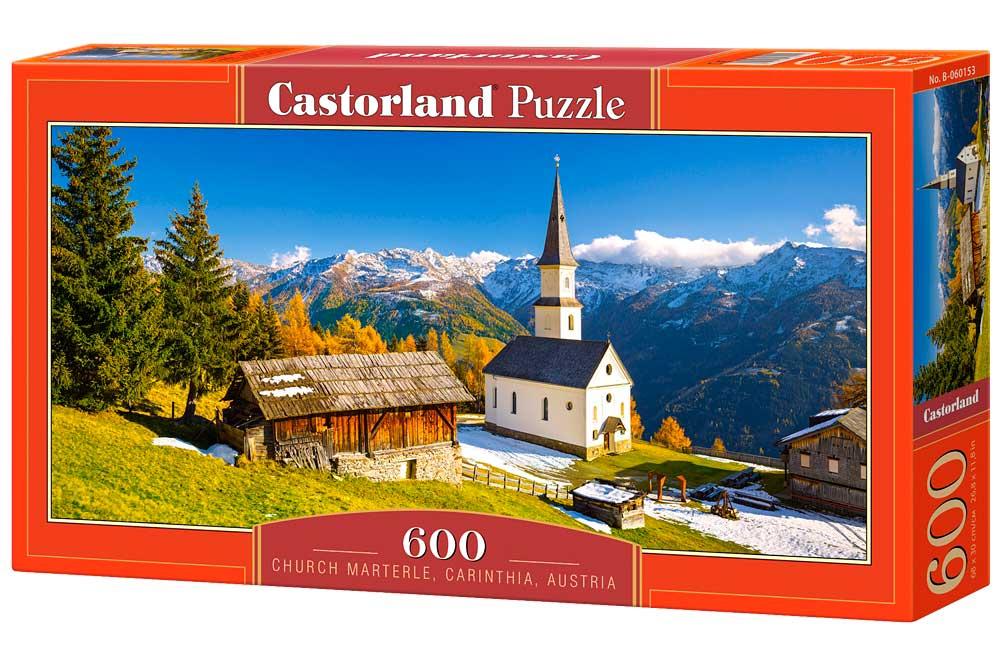 Puzzle Castorland Iglesia Marterle, Carinthia, Austria 600Piezas