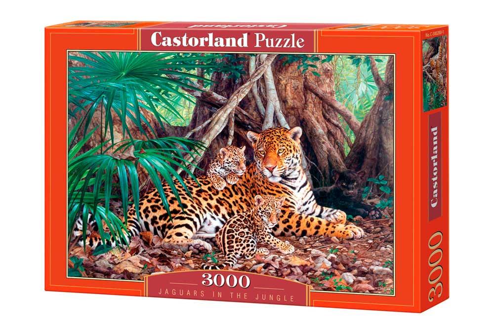 Puzzle Castorland Jaguares en la Jungla de 3000 Piezas